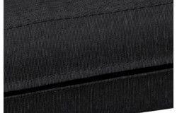 Kültéri vízlepergető Rattanbútor ülőpárna fekete cipzáras huzattal 6 méretben