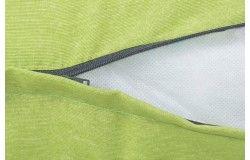 Kültéri vízlepergető Rattan párnaszett zöld cipzáras huzattal 60cm széles