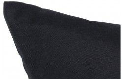 Kültéri vízlepergető Rattan párnaszett fekete cipzáras huzattal 3 méretben