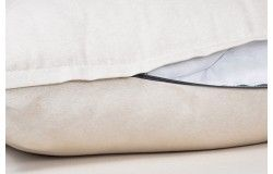 Kültéri vízlepergető Rattan párnaszett bézs cipzáras huzattal 3 méretben