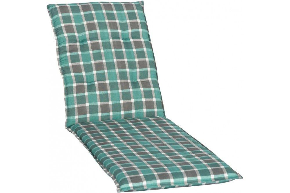 Medina kockás Napozóágy párna zöld 193x60x6cm