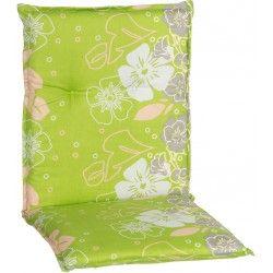 Baha virágmintás párna alacsonytámlás székhez világos zöld 101x50x6cm