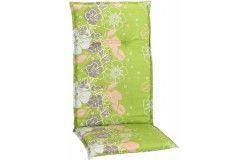 Baha virágmintás párna magastámlás székhez világos zöld 118x50x6cm