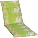 Baha virágmintás Napozóágy párna világos zöld 193x60x6cm