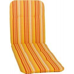 Bally narancssárga csíkos Napozóágy párna 193x60x5cm