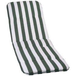Bally zöld-fehér csíkos Napozóágy párna 193x60x5cm