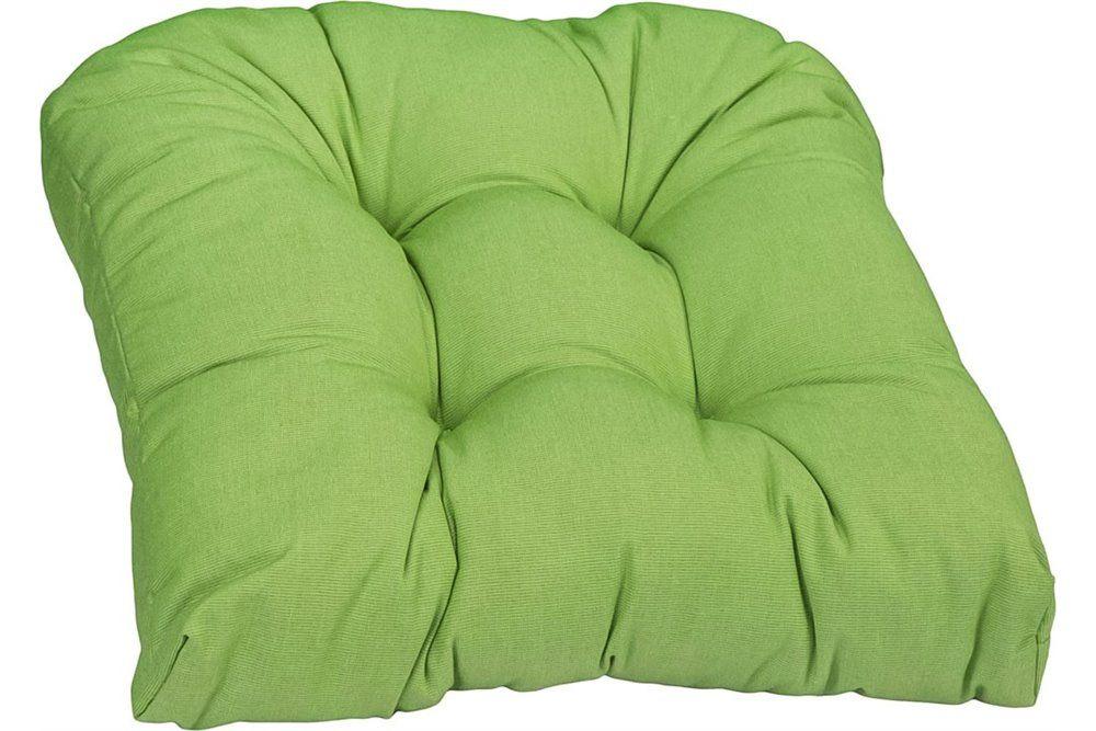 Lekerekített vastag ülőpárna 42x42x8cm zöld