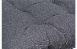 Vastag ülőpárna 38x38x8cm sötétszürke
