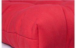 Lekerekített vastag ülőpárna 42x42x8cm piros