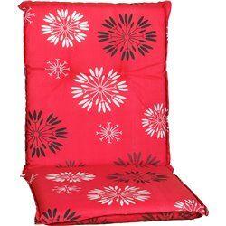 Baha virágmintás piros párna alacsonytámlás székhez 101x50x6cm