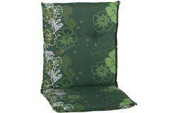 Baha virágmintás zöld párna alacsonytámlás székhez 101x50x6cm