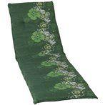 Baha virágos Napozóágy párna zöld 193x60x6cm