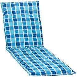 Medina kék kockás Napozóágy párna 193x60x6cm