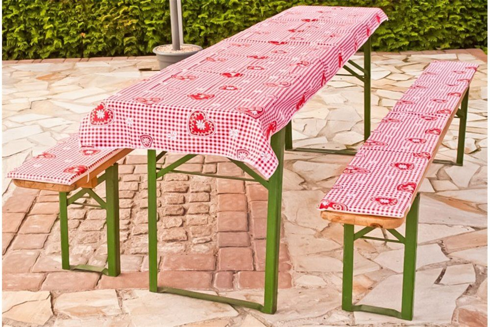 Sörpad párna és terítő piros kockás (220x70cm méretű asztalhoz)