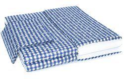 Sörpad párna és terítő kék kockás (220x70cm méretű asztalhoz)