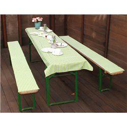 Sörpad párna és terítő zöld kockás (220x70cm méretű asztalhoz)