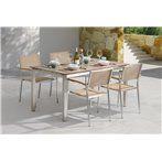 Wells Kerti étkező szett, asztal és négy szék, időjárásálló (HPL)