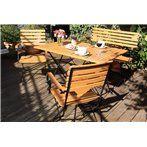 Lindau 4 részes összecsukható kerti bútor szett (akác)