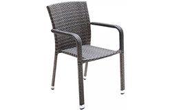 Carlos kültéri rakásolható alumínium szék karfával 2 db-os szett szürke