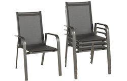 Urban kültéri alumínium Prémium szék 2 db-os szett antracitszürke