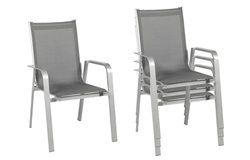 Urban kültéri alumínium Prémium szék 2 db-os szett grafitszürke
