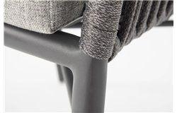 Manhattan kültéri alumínium vázas kötélfonatos fotel
