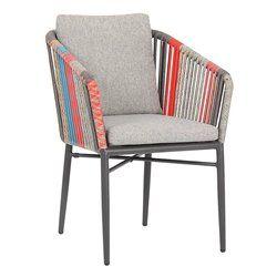 Manhattan kültéri alumínium vázas fotel színes kötélfonattal