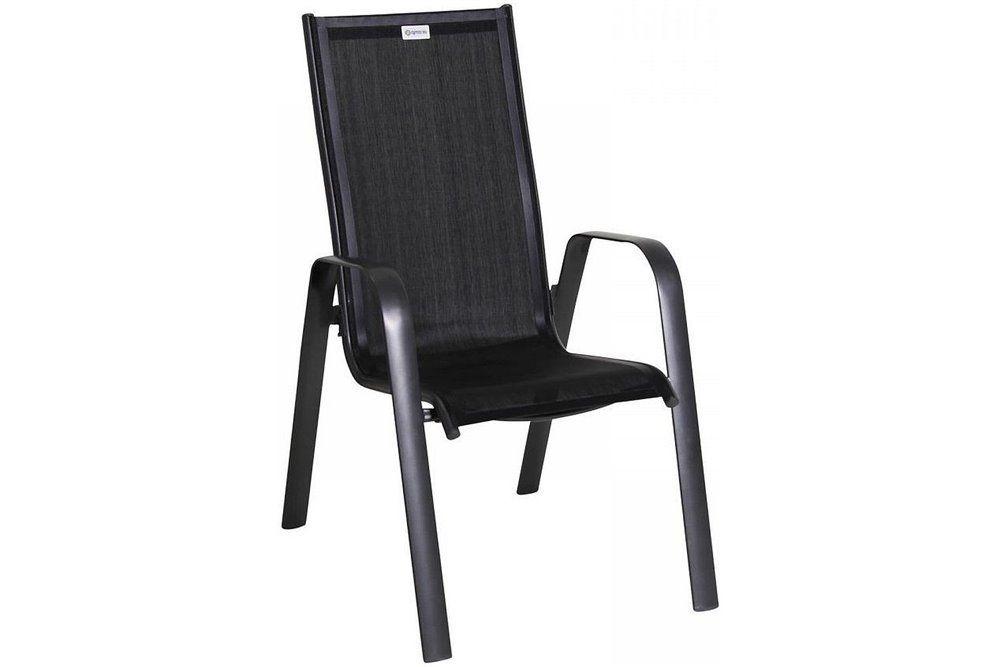 Acatop magastámlás alumínium szék 2 db-os szett antracit-fekete