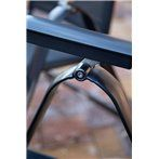 Acatop kültéri összecsukható alumínium szék antracit-fekete