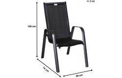 Acatop kültéri étkezőszett 4 rakásolható székkel (alumínium-topalit)