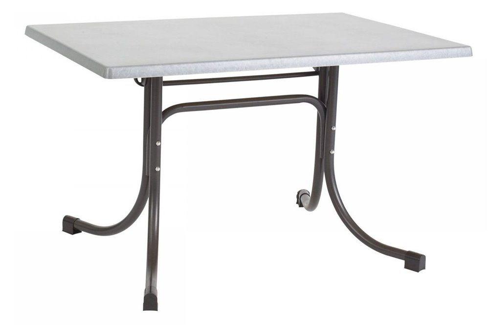 Összecsukható bisztró asztal 110x70cm antracit-inox (topalit)
