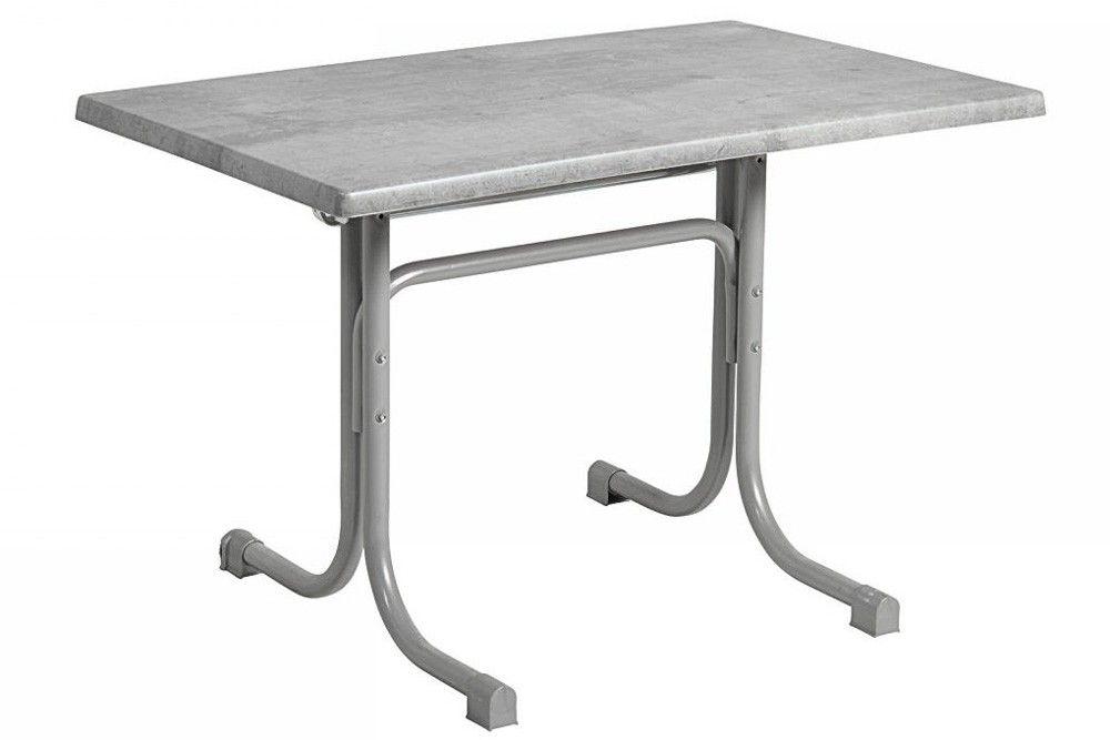 Összecsukható bisztró asztal 110x70cm platina-cementszürke (topalit)