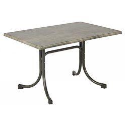 Összecsukható bisztró asztal 120x80cm antracit-kőszürke (topalit)