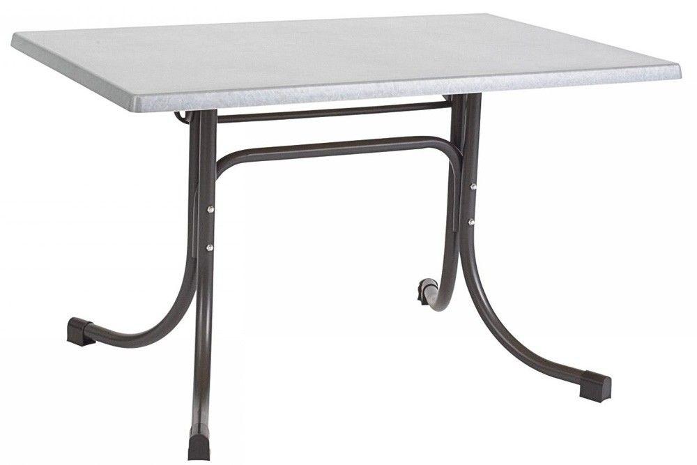Összecsukható bisztró asztal 120x80cm antracit-inox (topalit)