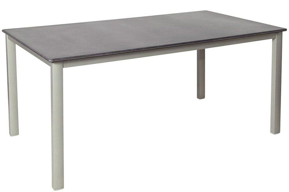 Kültéri alumínium étkezőasztal 160x90cm platina-palaszürke (topalit)