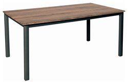 Kültéri alumínium étkezőasztal 160x90cm antracit-cherry (topalit)