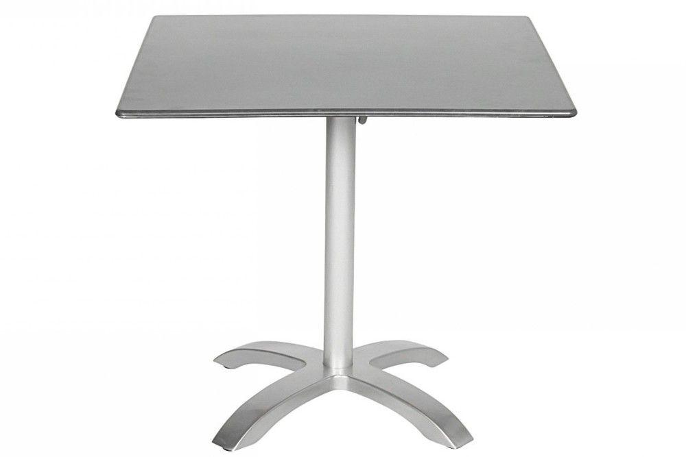 Összecsukható bisztró asztal 80x80cm platina-palaszürke (alumínium-topalit)