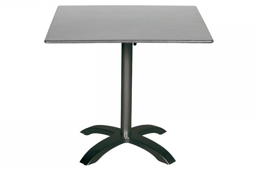 Összecsukható bisztró asztal 80x80cm antracit-palaszürke (alumínium-topalit)