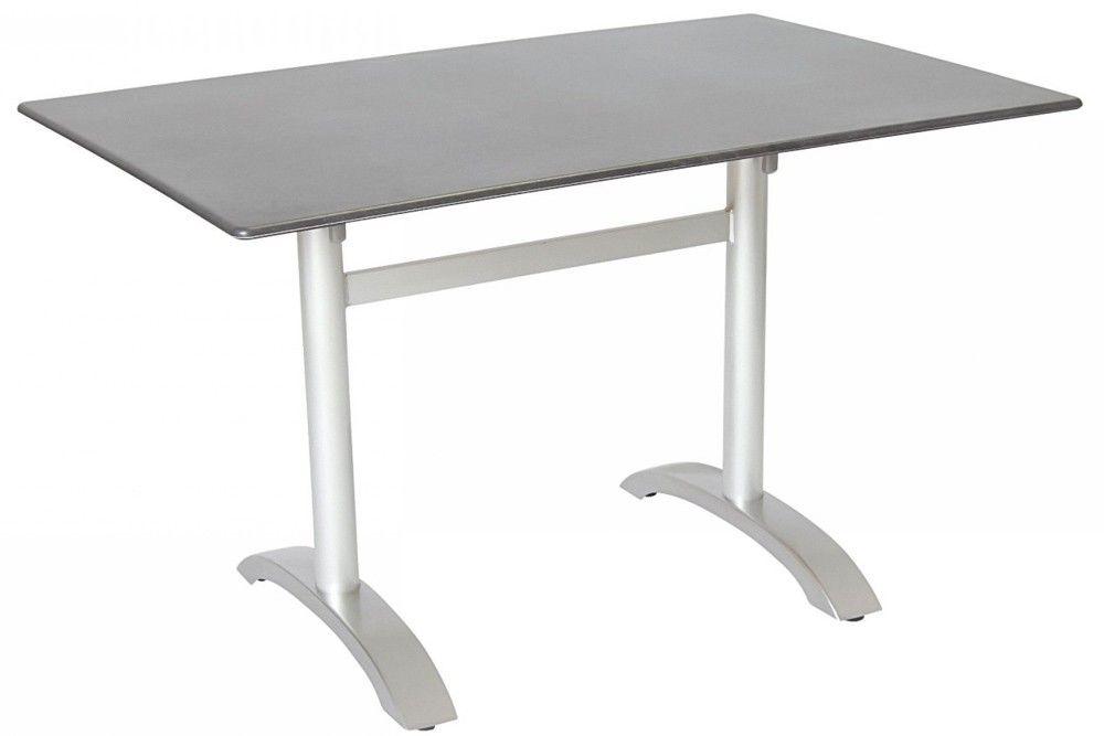 Összecsukható bisztró asztal 120x80cm platina-palaszürke (alumínium-topalit)