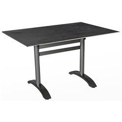 Összecsukható alumínium bisztró asztal 120x80cm antracit (HPL)