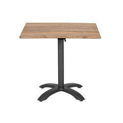 Összecsukható bisztró asztal 80x80cm antracit-cherry (alumínium-topalit)