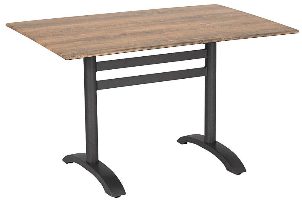 Összecsukható bisztró asztal 120x80cm antracit-cherry (alumínium-topalit)