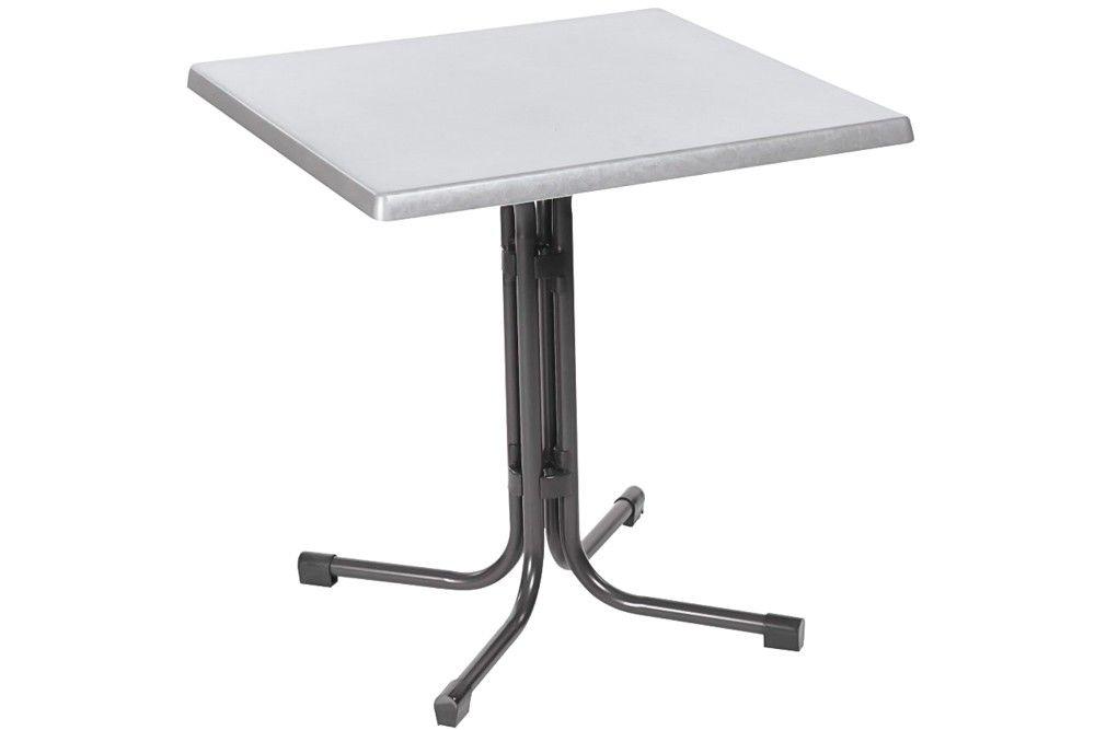 Összecsukható bisztró asztal 80x80cm antracit-inox (topalit)