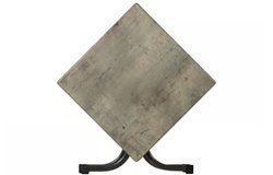 Összecsukható bisztró asztal 80x80cm antracit-kőszürke (topalit)