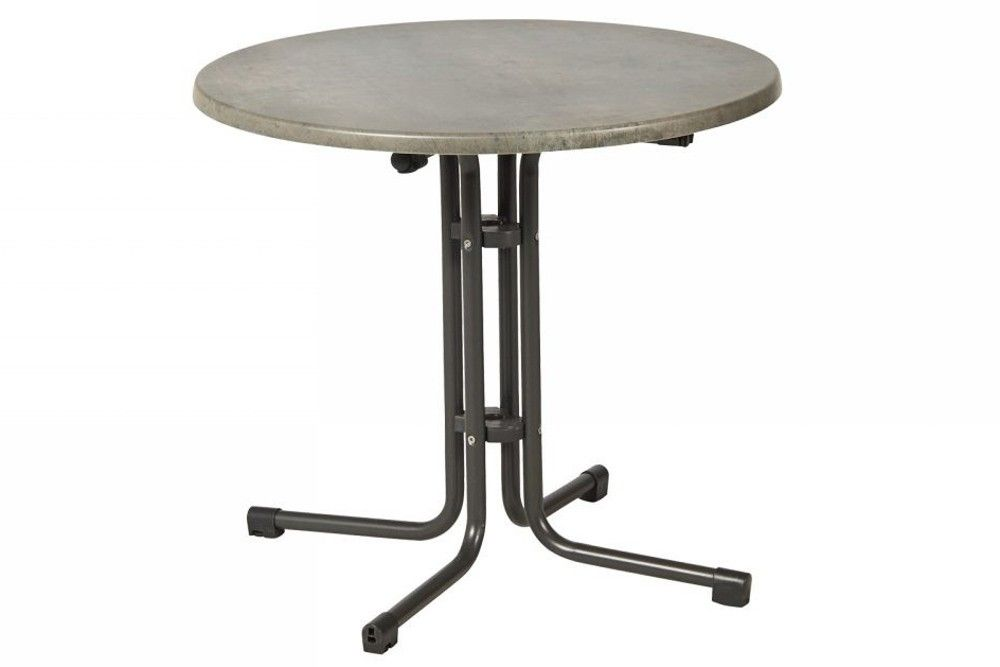 Összecsukható kerek bisztró asztal 80cm antracit-kőszürke (topalit)