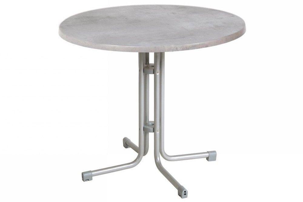 Összecsukható kerek bisztró asztal 80cm platina-cementszürke (topalit)