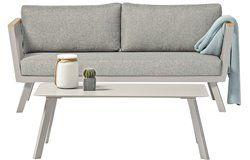 Gondola 5 személyes kültéri ülőgarnitúra alumínium asztallal