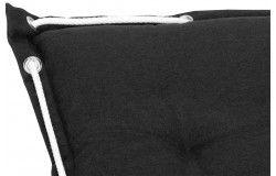 Köln Napozóágy párna 191x58x8cm fekete vízlepergető huzattal