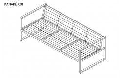 Space 5 részes kerti acélvázas ülőgarnitúra asztallal