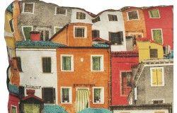 Raklapbútor 3db-os párna szett épület mintás hátpárnával